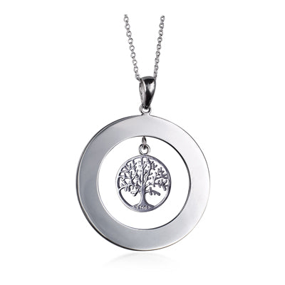 Family Tree Pendant in Sterling Silver