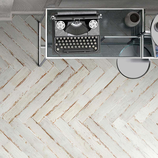 "Silo 3.9"" x 27.5"" Wood Look Porcelain Tiles"