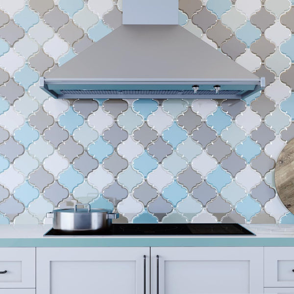 Arabesque Glass Mosaic Tiles
