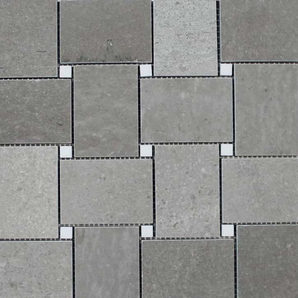 Arctic Gray Marble Mosaic Tiles