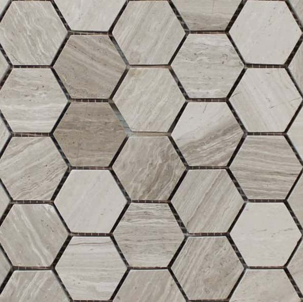 Driftwood Marble Mosaic Tiles