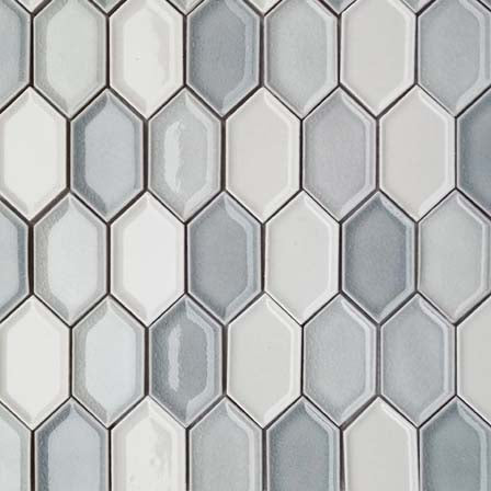 Honeycomb Beveled Glazed Porcelain Mosaic Tiles