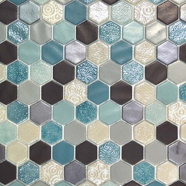 Onix 1 Inch Hexagon Mosaic Tiles