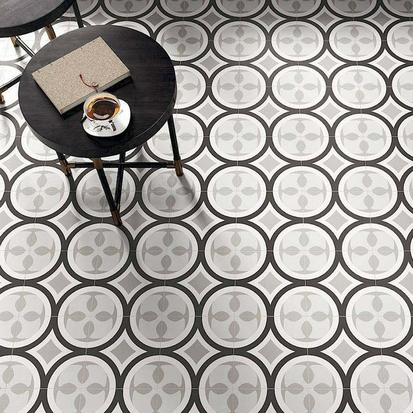 Patchwork Porcelain 8 x 8 Cement Look Tiles