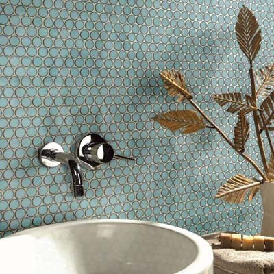 "Queens 1"" Penny Round Mosaic Tiles"