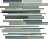 Beach Break Hand Painted Linear Glass Mosaic Tiles