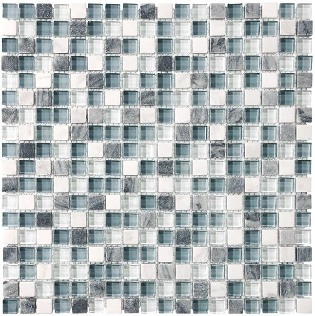 Bliss BSW58 Stone and Glass Square Mosaic Tiles - Rocky Point Tile - Glass and Mosaic Tile Store