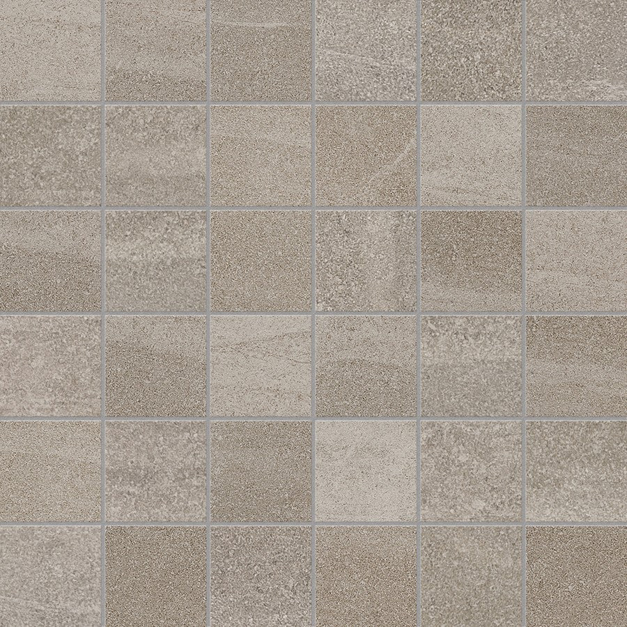 "Crux 2"" x 2"" Matte Glazed Porcelain Mosaic Tiles - Earth"