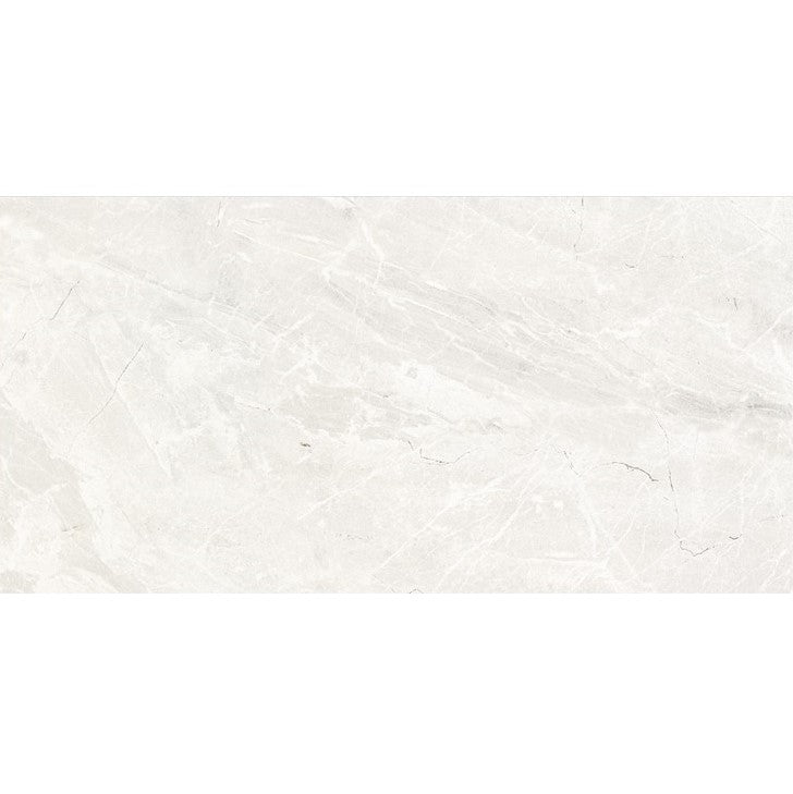 "Denmark 12"" x 24"" Glazed Porcelain Tiles - Polished Pale Grey"