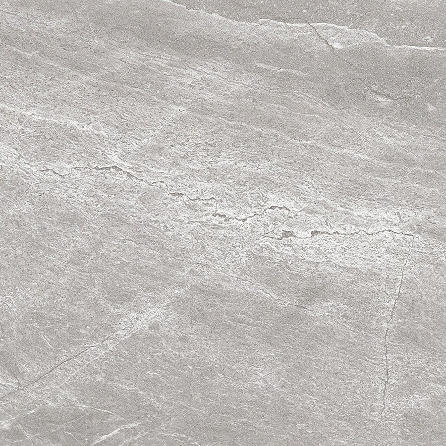 "Denmark 24"" x 24"" Glazed Porcelain Tiles - Polished Medium Grey"