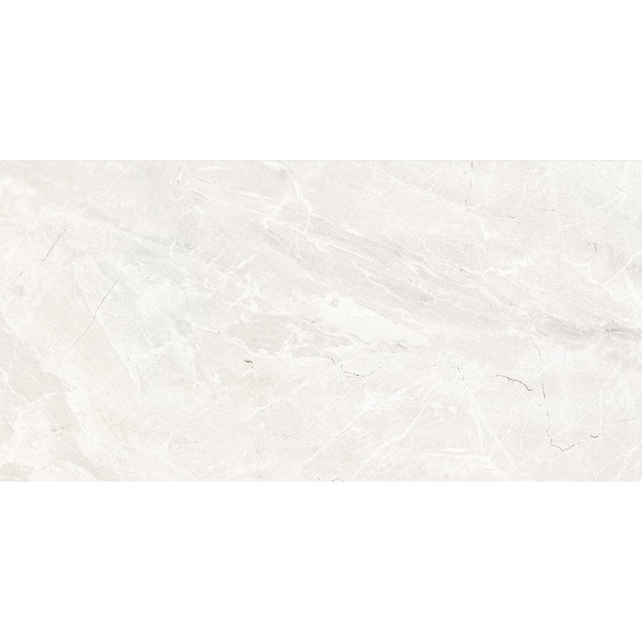 "Denmark 24"" x 48"" Glazed Porcelain Tiles - Polished Pale Grey"