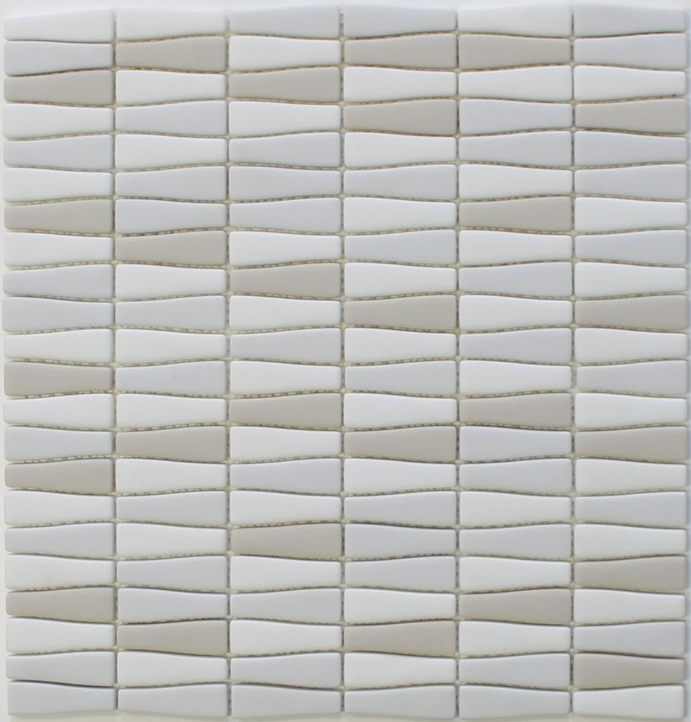 Vetro D'Terra Calacatta Bottle Shaped Glass Mosaic Tiles - Rocky Point Tile - Glass and Mosaic Tile Store