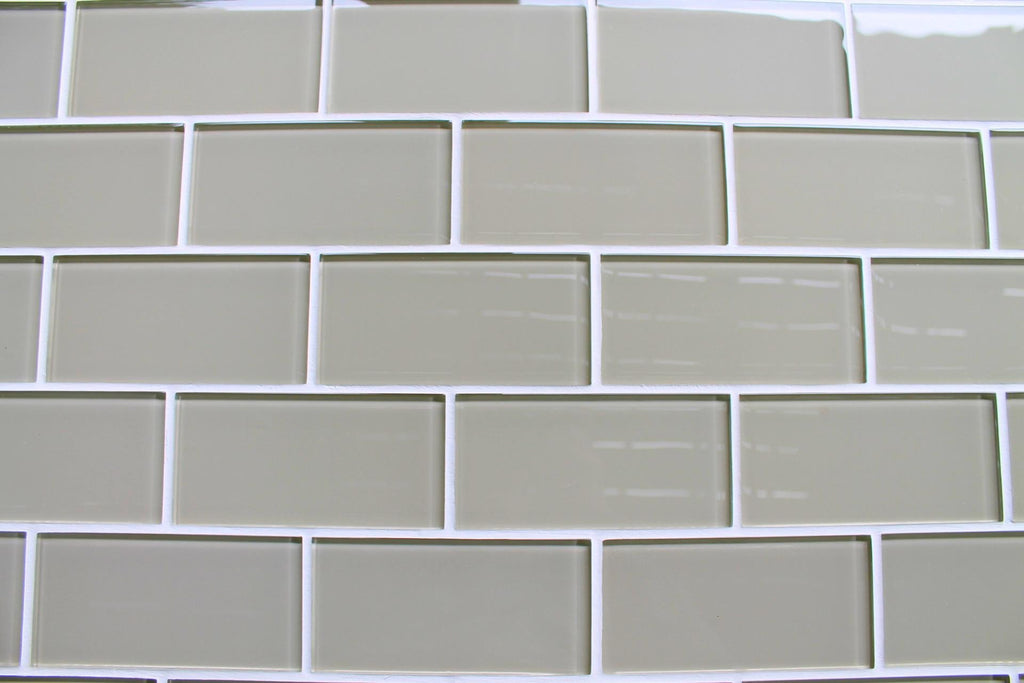 Sheep's Wool Beige 3x6 Glass Subway Tiles - Rocky Point Tile - Glass and Mosaic Tile Store