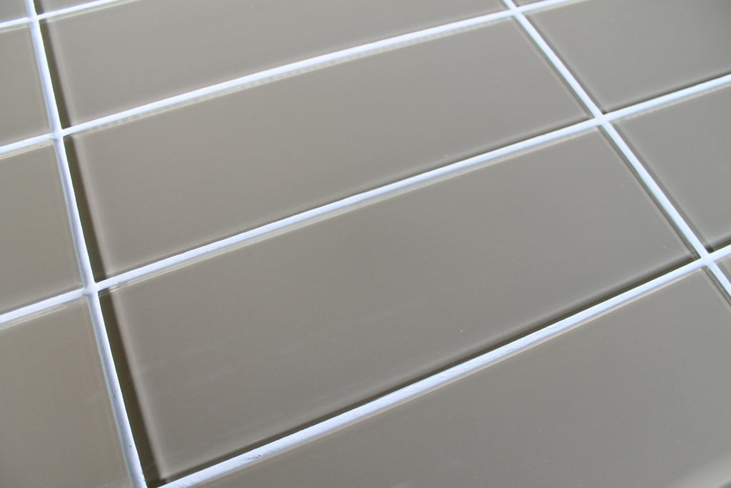 Beach Brown 4x12 Glass Subway Tiles - Rocky Point Tile - Glass and Mosaic Tile Store