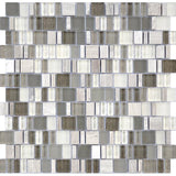 Karma Stone and Glass Mosaic Tiles - Whisper