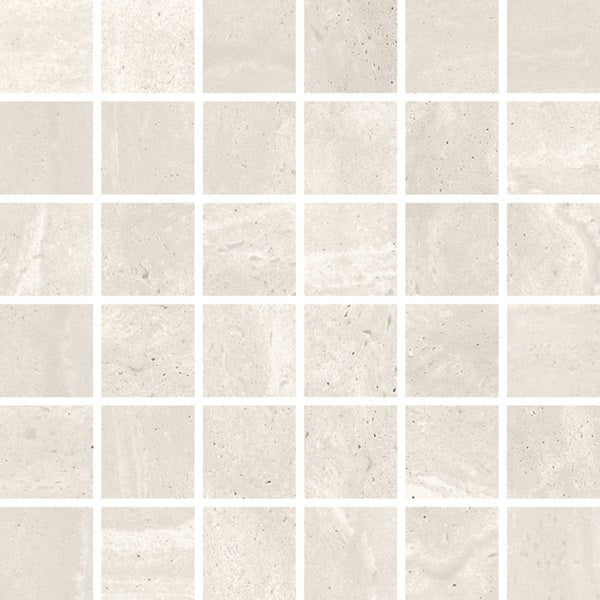 "Reverso 2"" x 2"" Porcelain Mosaic Tiles - Natural White"