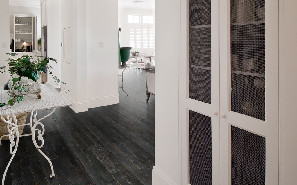 Silo Wood Look Porcelain Floor Tiles - Nero