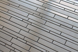 Stainless Steel Random Strips Mosaic Tiles - Rocky Point Tile - Glass and Mosaic Tile Store