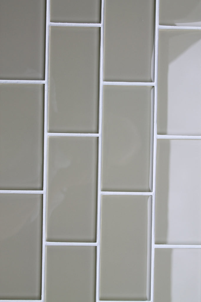 Straw 3x6 Glass Subway Tiles - Rocky Point Tile - Glass and Mosaic Tile Store