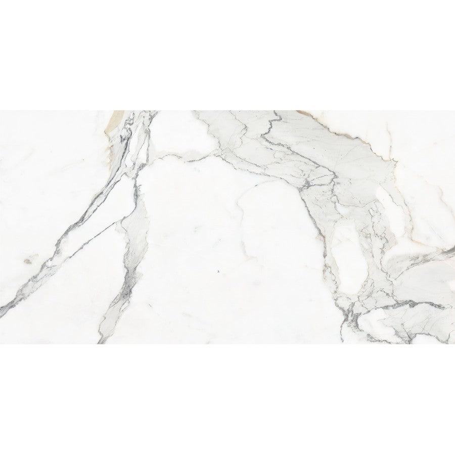 "Verona 24"" x 48"" Glazed Porcelain Tiles - Polished Calacatta Gold"