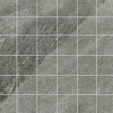 "X Rock 2"" x 2"" Matte Porcelain Mosaic Tiles - Grey"