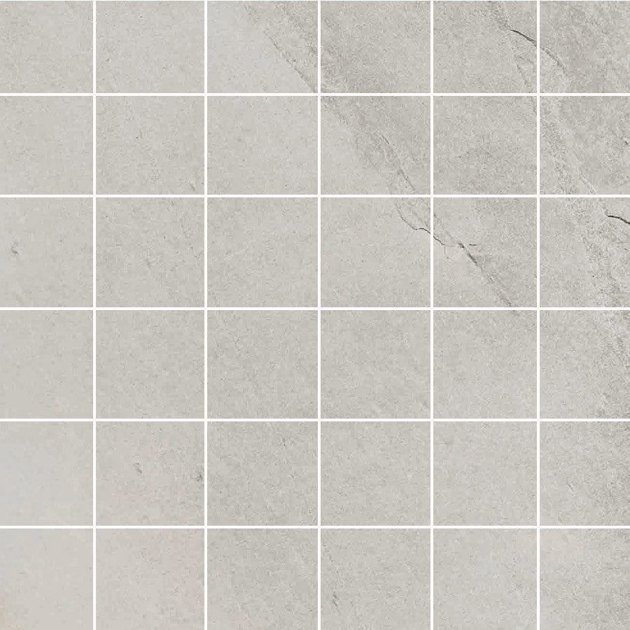 "X Rock 2"" x 2"" Matte Porcelain Mosaic Tiles - White"