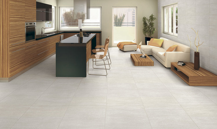 "Alps 24"" x 24"" Glazed Porcelain Tiles - Almond"