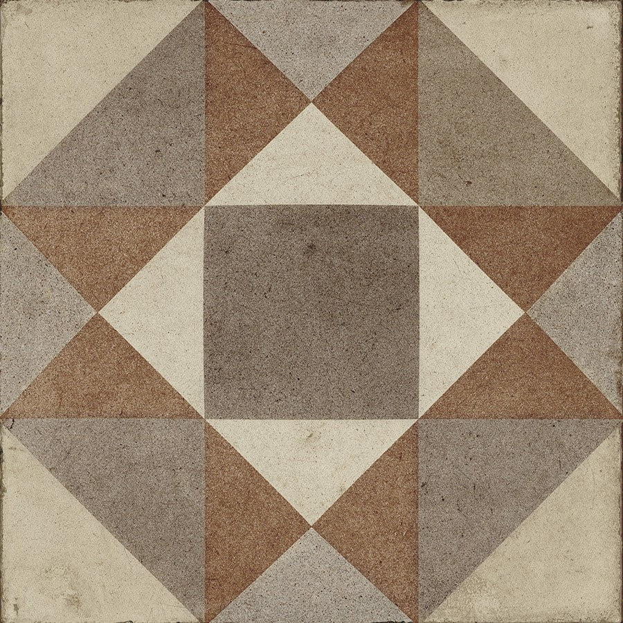 "Ottocento 8"" x 8"" Encaustic Look Tiles - Ambra 3 Decor"