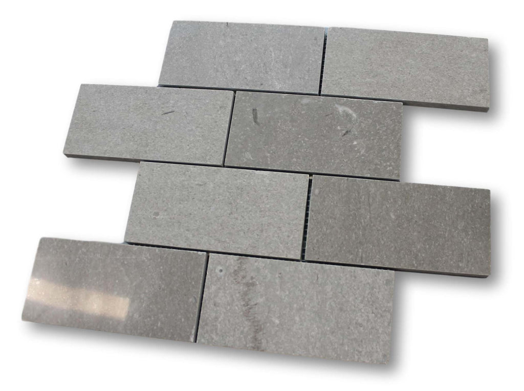 "Arctic Grey Marble 3"" x 6"" Subway Tile"