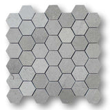 Arctic Grey Marble 2 Inch Hexagon Mosaic Tiles