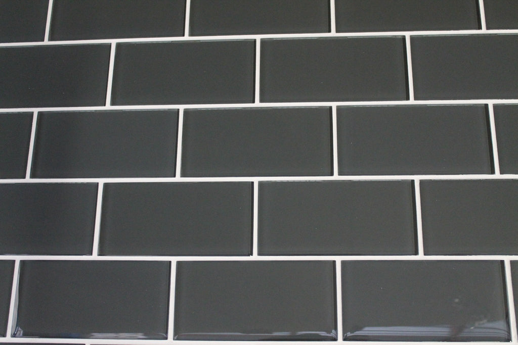 Ash 3x6 Glass Subway Tiles - Rocky Point Tile - Glass and Mosaic Tile Store
