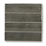 "Atlanta 9.5"" x 2.5"" Glazed Porcelain Subway Tiles - Dark Grey"