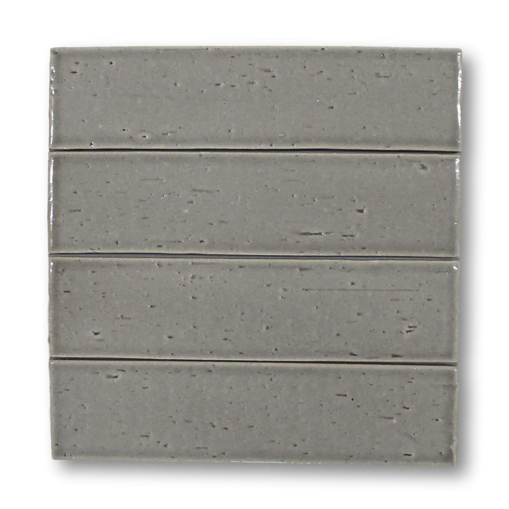 "Atlanta 9.5"" x 2.5"" Glazed Porcelain Subway Tiles - Light Grey"