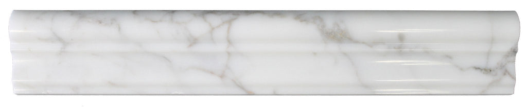 Calacatta Gold Polished Marble Chair Rail - Rocky Point Tile - Glass and Mosaic Tile Store