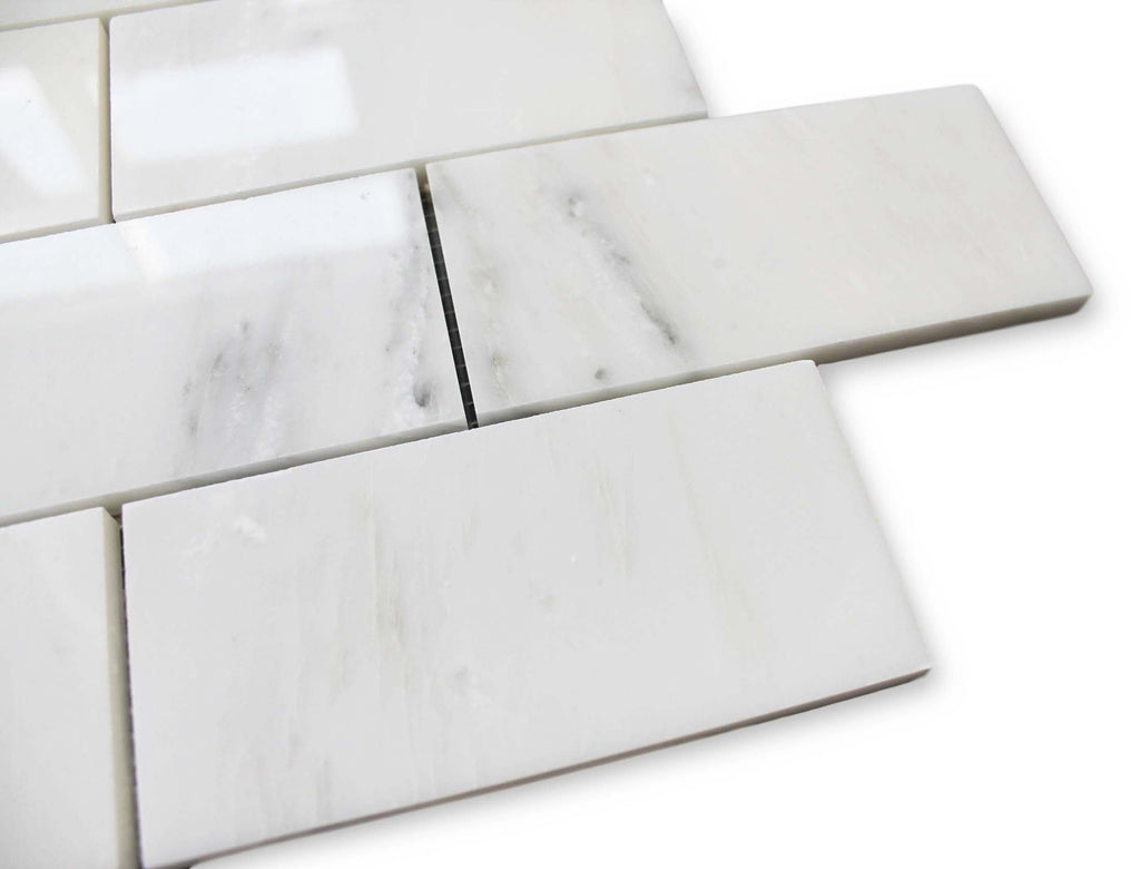 Bianco Carrara Marble 3x6 Subway Tile