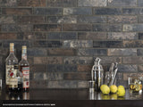 "Bristol 2.5"" x 10"" Porcelain Brick-Look Subway Tiles - Dark"