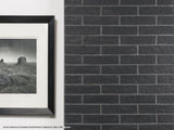 "New York Brick 2.5"" x 10"" Porcelain Subway Tiles - Black"