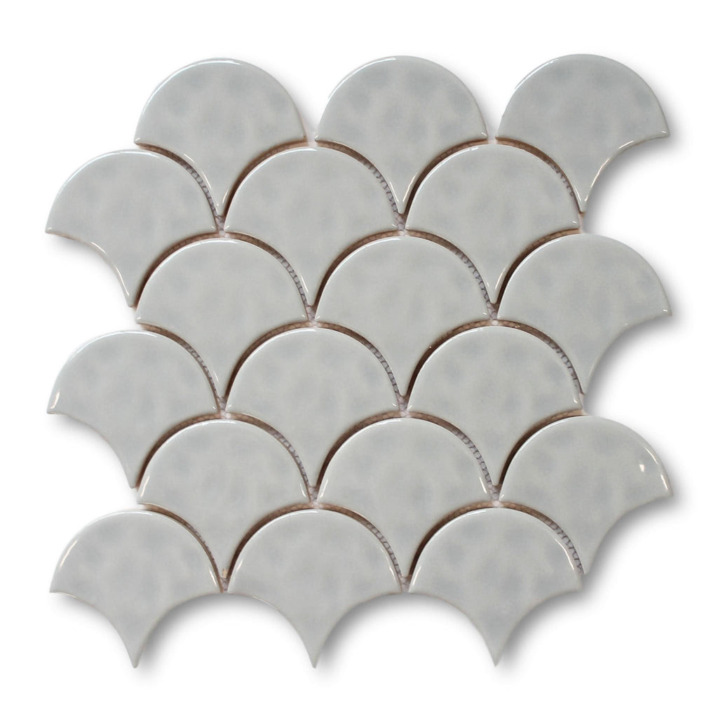 Fish Scale Ceramic Mosaic Tiles - Cloud