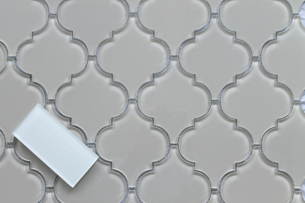 Country Cottage Arabesque Glass Mosaic Tiles - Rocky Point Tile - Glass and Mosaic Tile Store