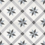 "Form 8"" x 8"" Cement Look Glazed Porcelain Tiles - Tide Deco Compass"