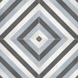 "Form 8"" x 8"" Cement Look Glazed Porcelain Tiles - Tide Deco Diamond"