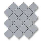 Arabesque Ceramic Mosaic Tiles - Grey