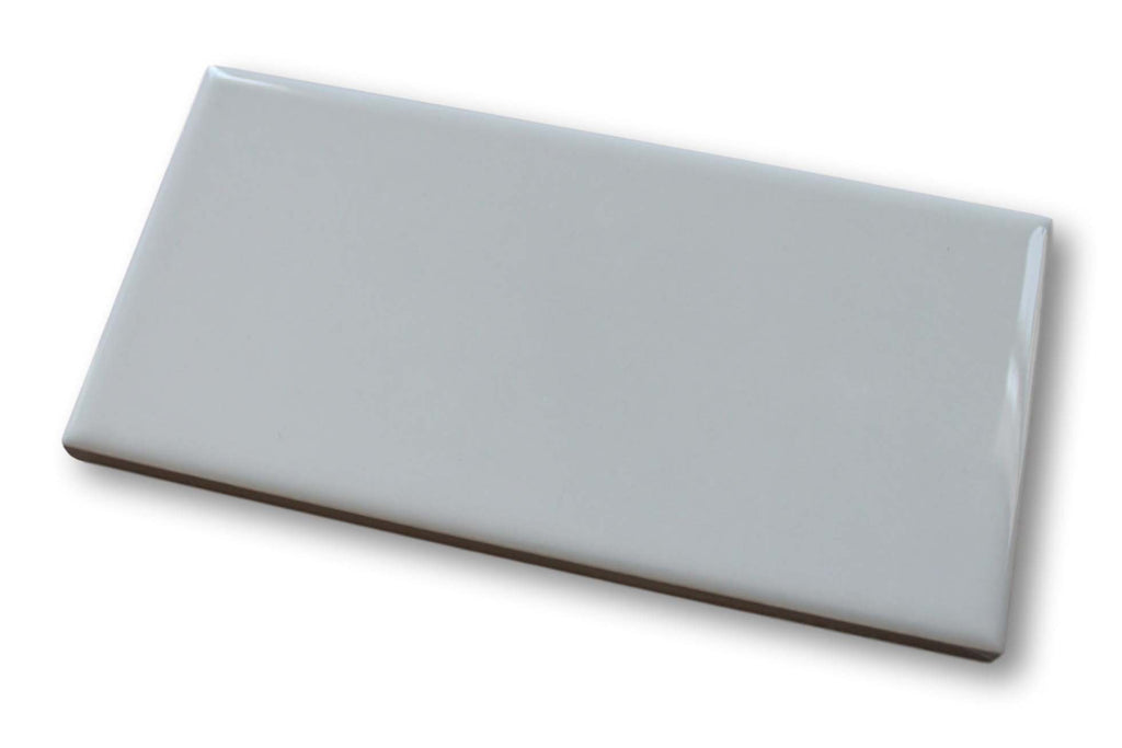 "Hello 3"" x 6"" Porcelain Subway Tiles - Glossy Grey"