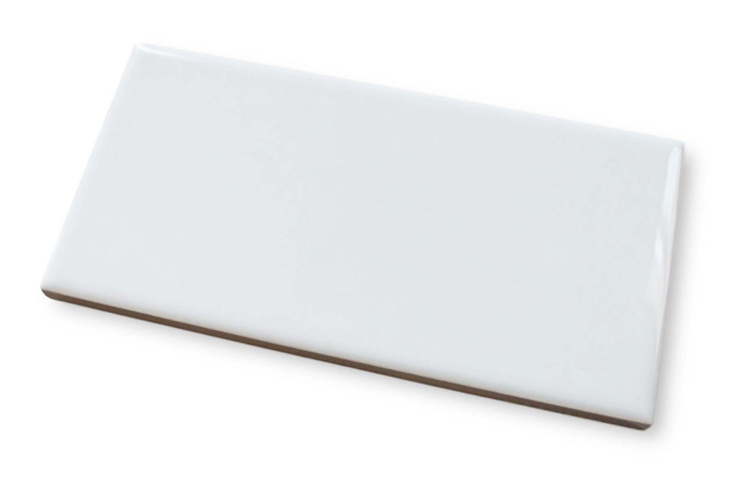 "Hello 3"" x 6"" Porcelain Subway Tiles - Glossy White"