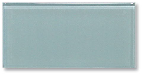 Jasper Blue Grey 3x6 Glass Subway Tiles