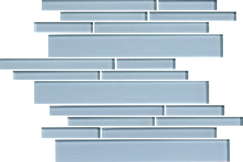Jasper Blue Linear Glass Mosaic Tiles - Rocky Point Tile - Glass and Mosaic Tile Store