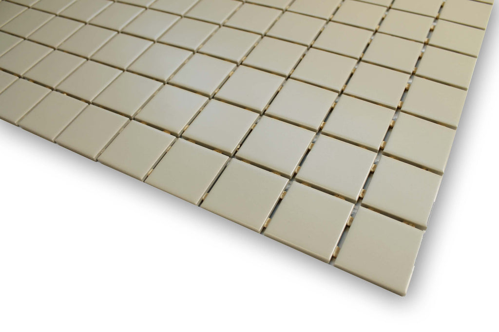 Linen Glazed Porcelain 2 x 2 Mosaic Tiles - 10 Square Feet - Rocky Point Tile - Glass and Mosaic Tile Store