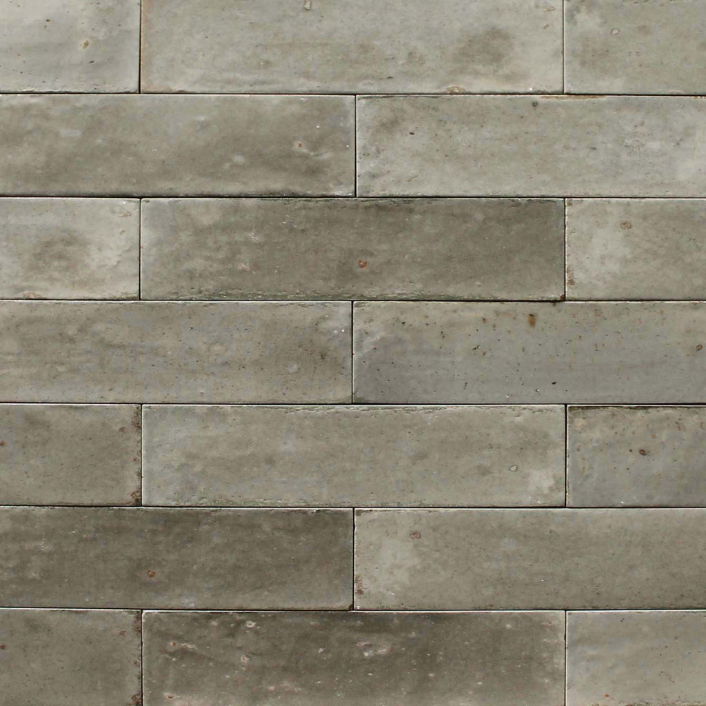 "Lume 2"" x 9"" Glazed Porcelain Subway Tiles - Glossy Greige"