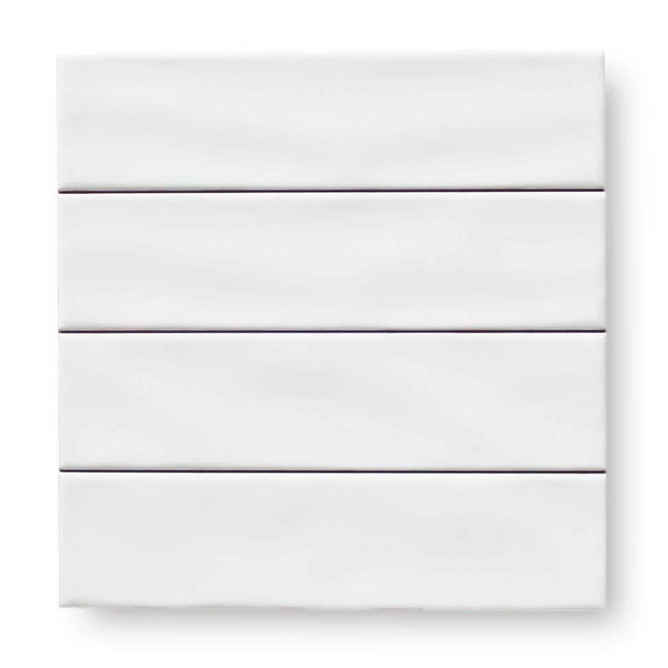 "Villa 3"" x 12"" Ceramic Subway Tiles - White"