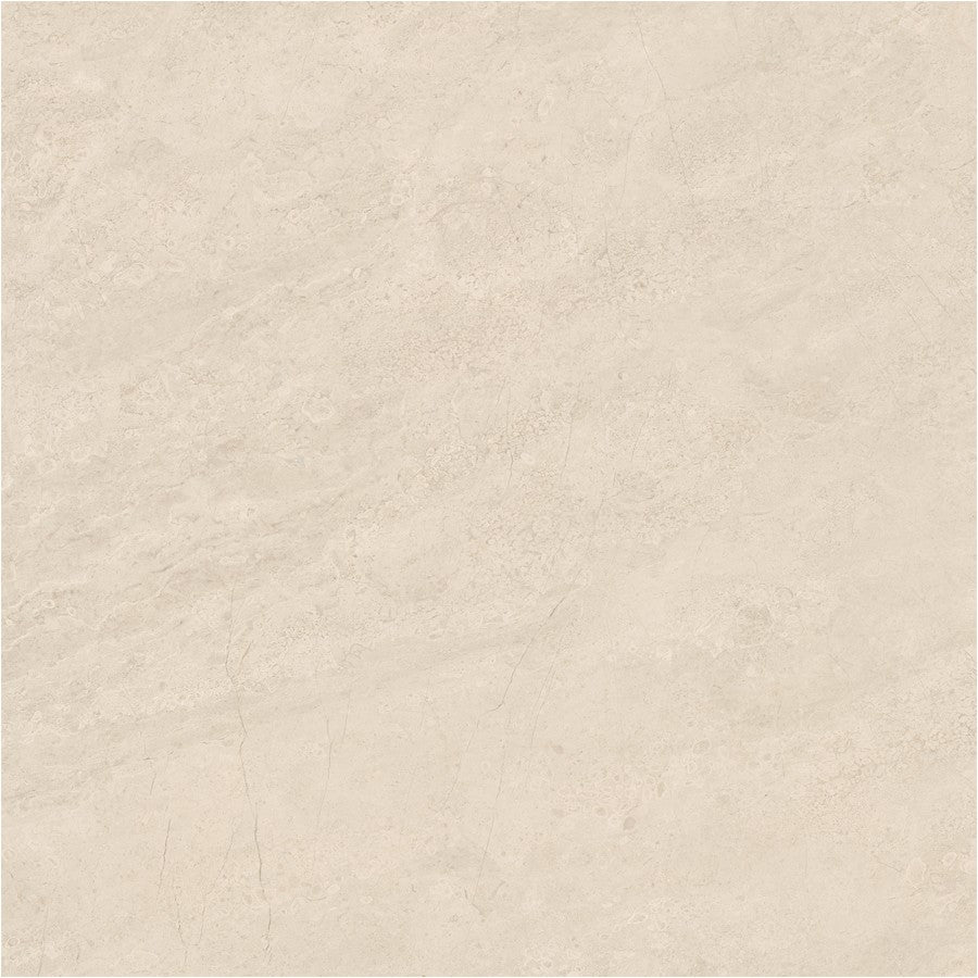 "Mayfair 24"" x 24"" Glazed Porcelain Tiles - Polished Allure Ivory"